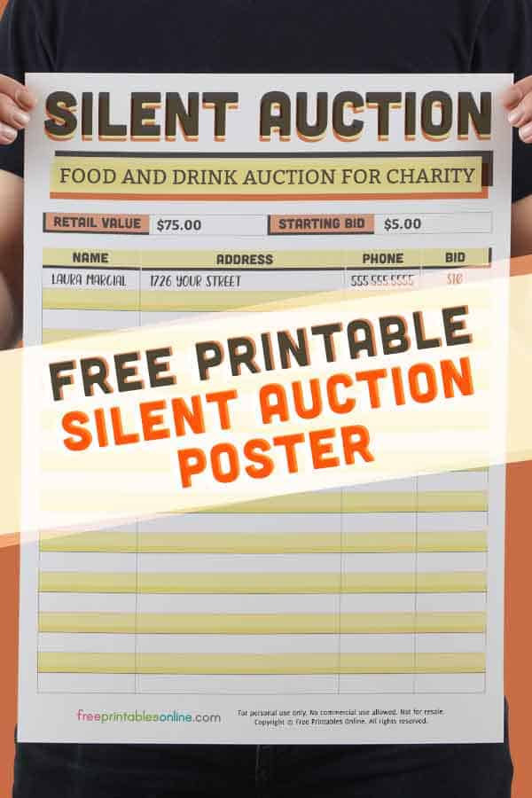 A3 Silent Auction Poster