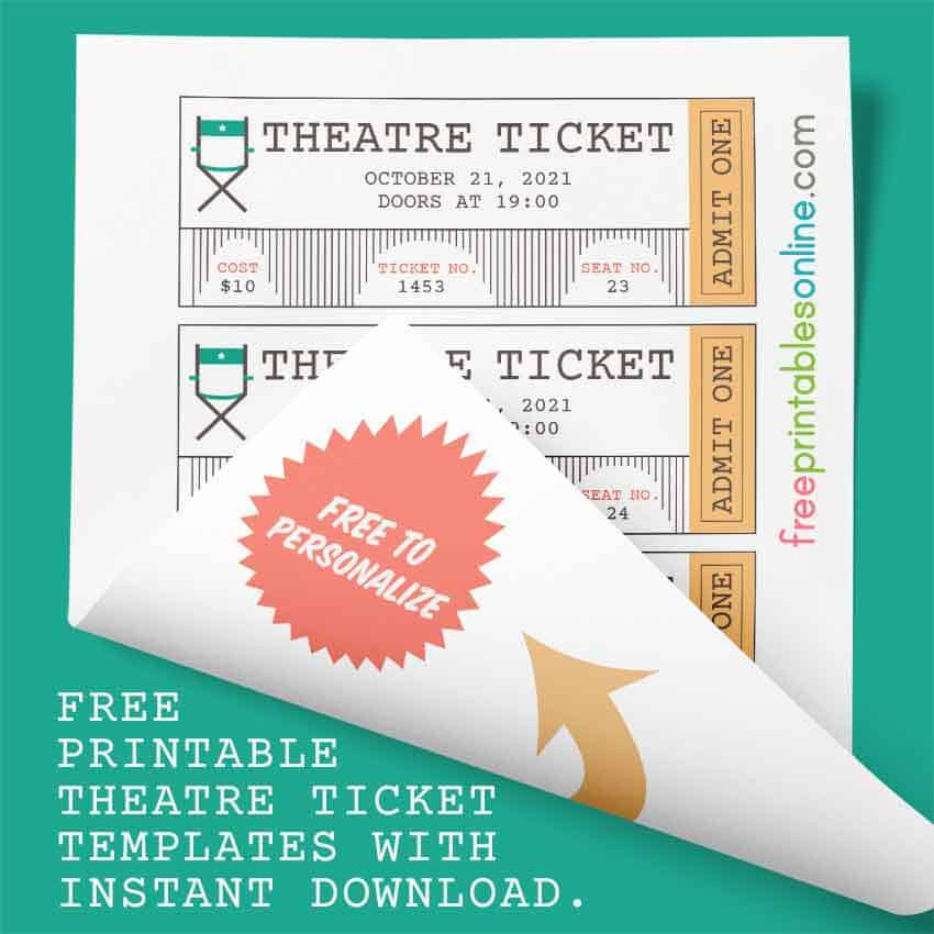 free Theatre Ticket Template