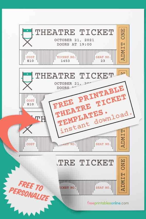 printable theatre tickets