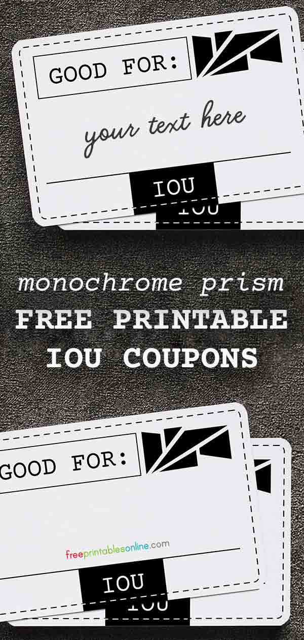 monochrome prism good for iou coupons