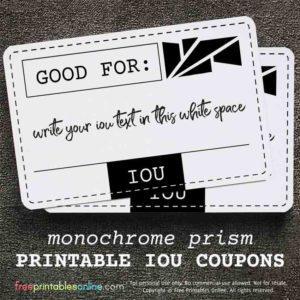 Monochrome Prism Good For IOU Coupon