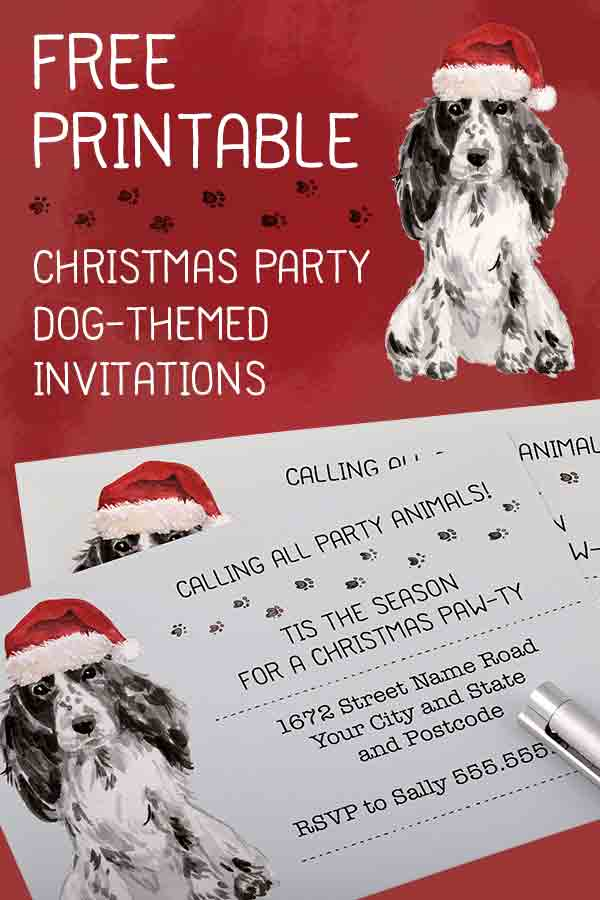 Puppy Christmas Party Invitations