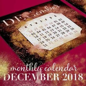Printable December 2018 Calendar