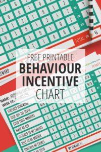 Free Printable Behavior Incentive Chart