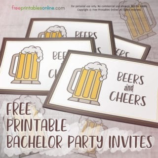 Printable Bachelor Party Invite