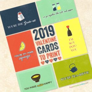 corny Valentine cards