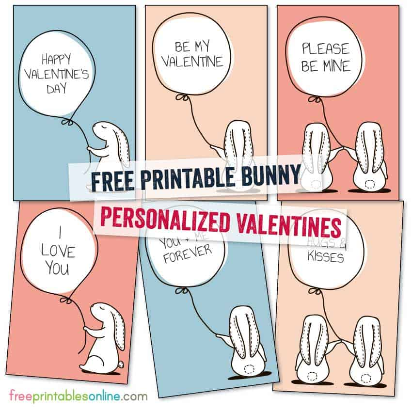 Bunny Personalized Valentines