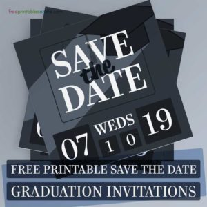 Graduation Save the Date Invitations