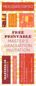 Master's Graduation Invitation