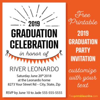 2019 Graduation Party Invitation