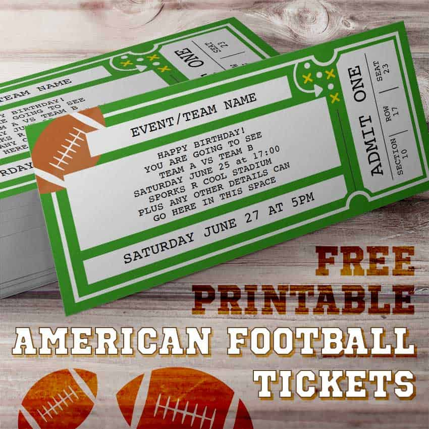image about Free Printable Football Templates titled Printable Soccer Ticket Template - Totally free Printables On the internet