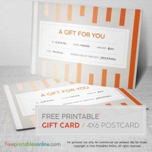 Orange Stripes Postcard Gift Card