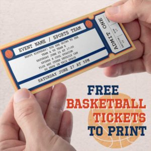 Free Printable Basketball Tickets