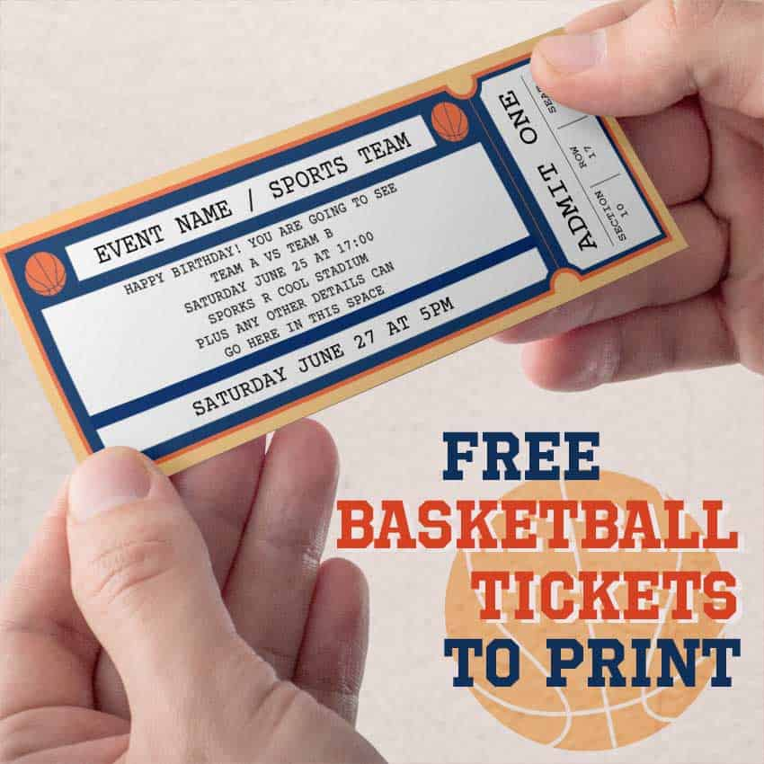 free printable basketball ticket free printables online. Black Bedroom Furniture Sets. Home Design Ideas