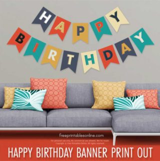 Happy Birthday Banner Print Out