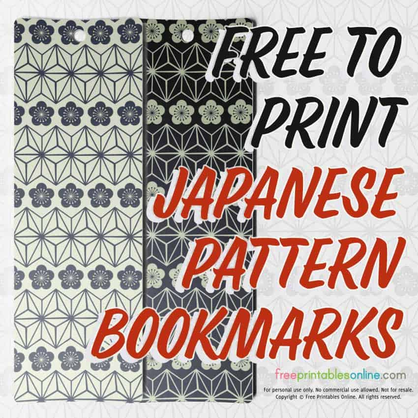Japanese Bookmark Design
