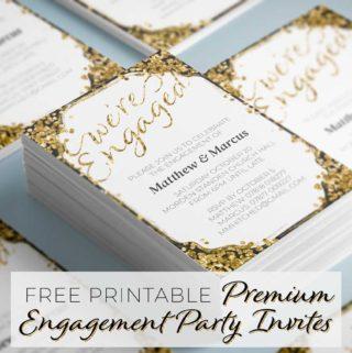 Premium Engagement Party Invitations