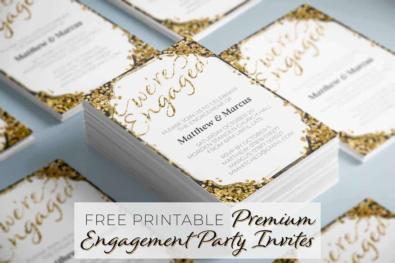 picture about Free Printable Engagement Party Invitations called High quality Engagement Social gathering Invites - Free of charge Printables On the net
