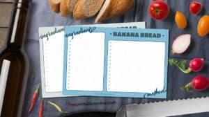 Cornered Recipe Card templates
