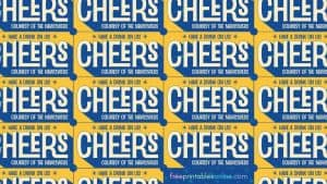 Cheers Wedding Drink Tickets