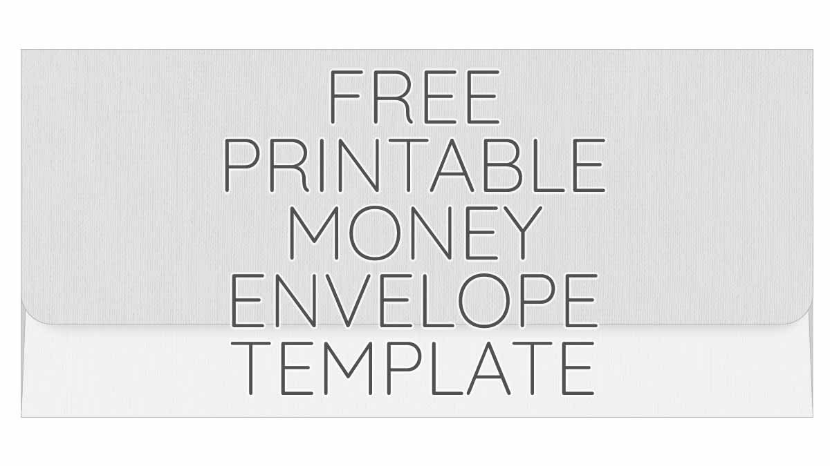 printable money envelope