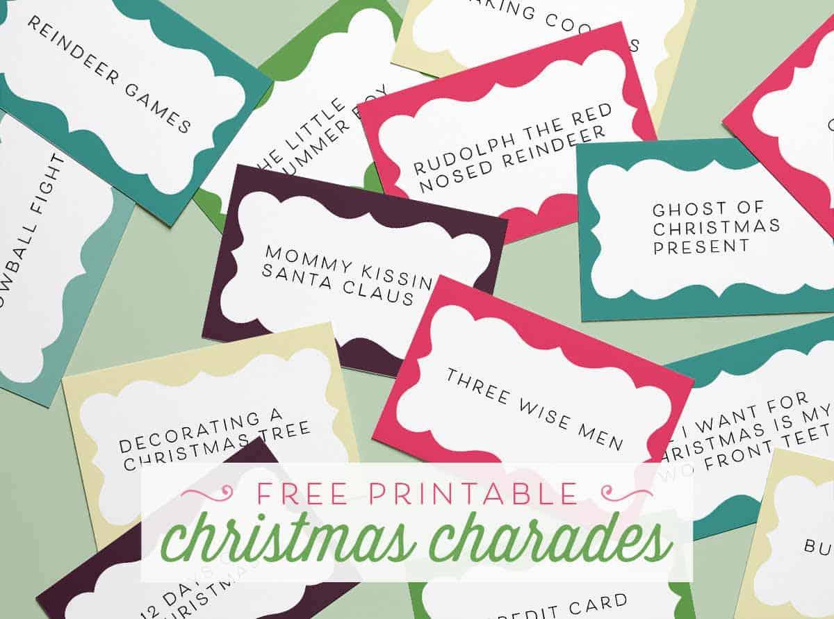 Printable Christmas Charades Free Printables Online