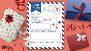 Letter to Santa to Fill in