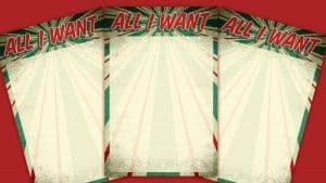 Retro All I Want For Christmas List