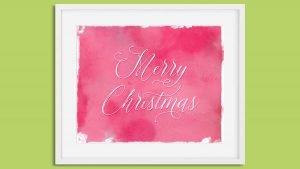 Printable Watercolor Merry Christmas Wall Art
