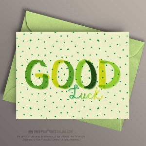Good Luck Note Card