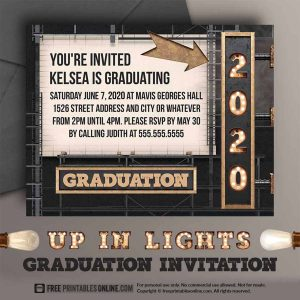2020 Graduation Invitation to Personalize