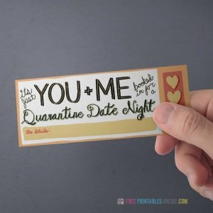 Indoor date ticket invitation