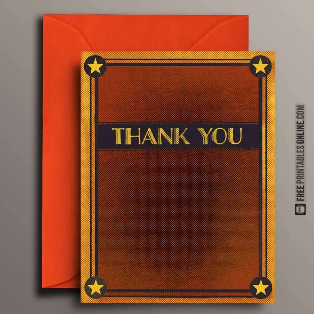 Blank Halftone Thank You Card