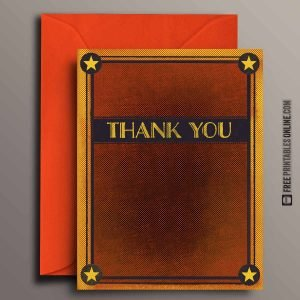 Halftone Thank You Card