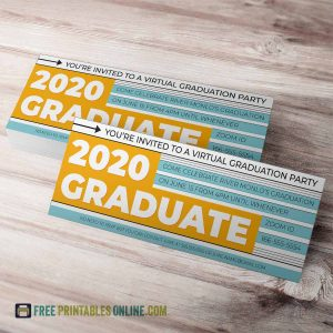 2020 Virtual Graduation Party Invitation