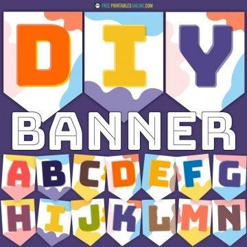 Splodge Alphabet Banners
