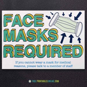 Printable Face Masks Required Sign