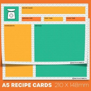Formica A5 Recipe Card