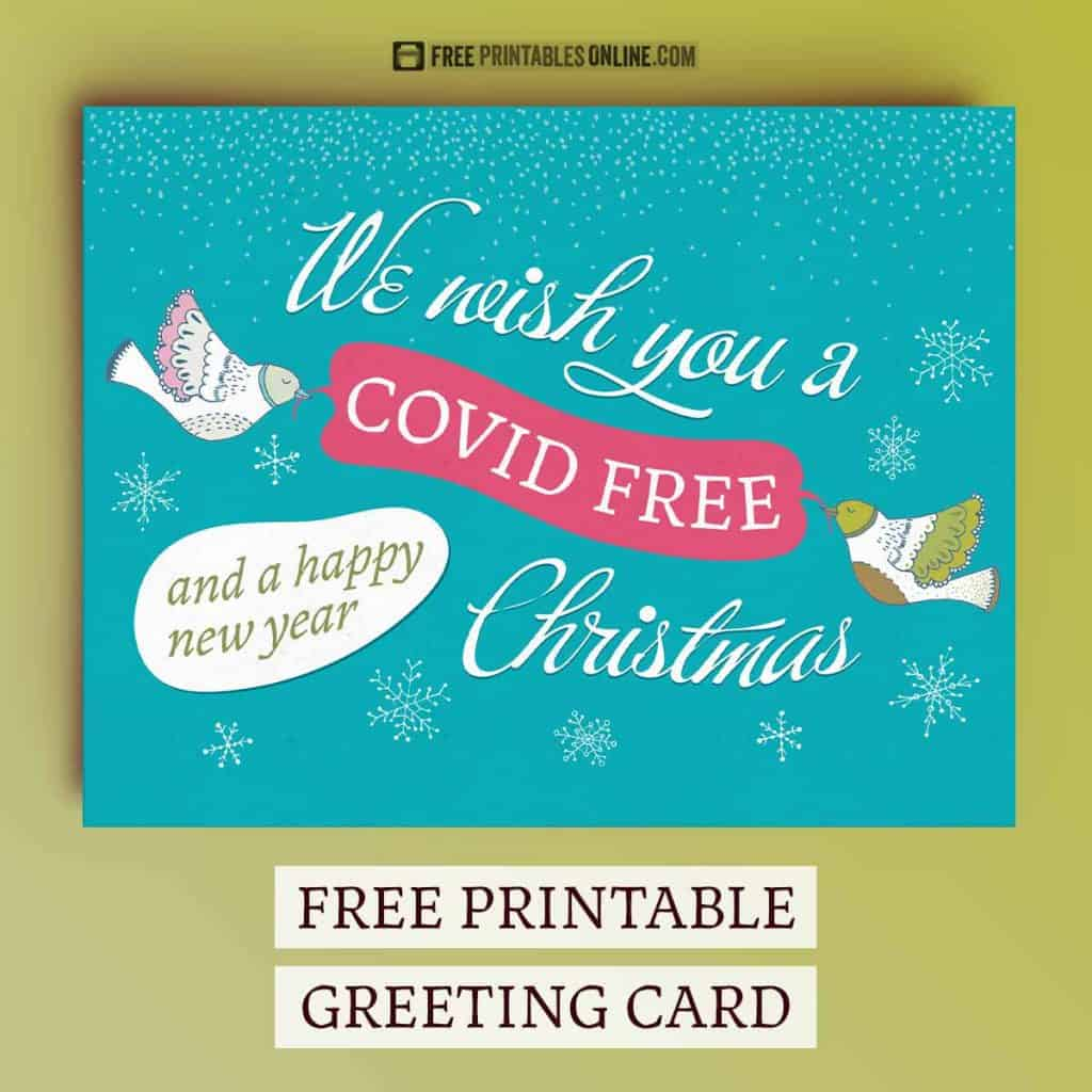 We wish you a covid free Christmas card