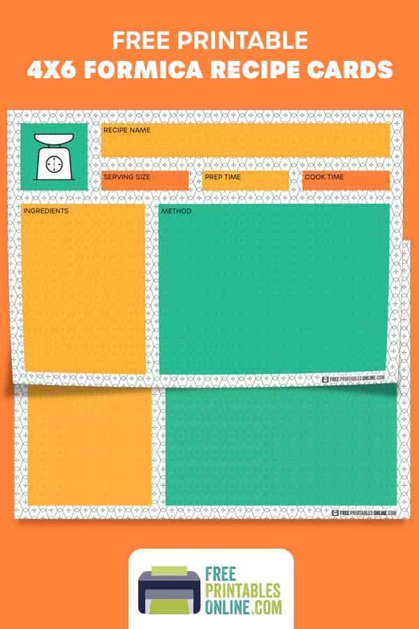 Formica 4x6 Recipe Cards
