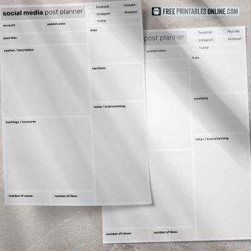 Social Media Post Planner