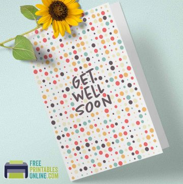 get well soon card printable