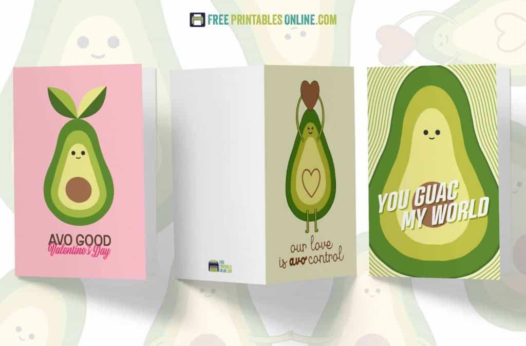 avocado puns cards