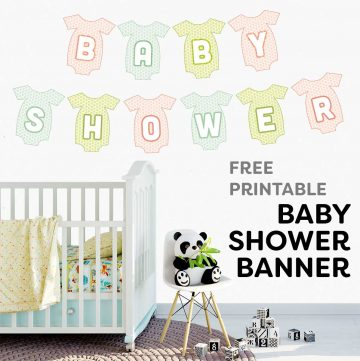 free baby shower banner