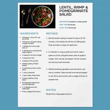 thumbnail of Minimal editable recipe page with picture