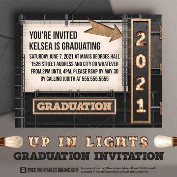 2021 Graduation Invitation to Personalize