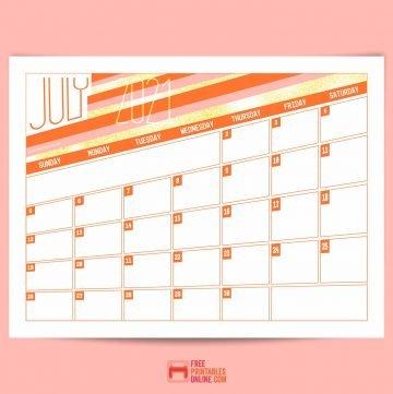 july 2021 calendar thumbnail