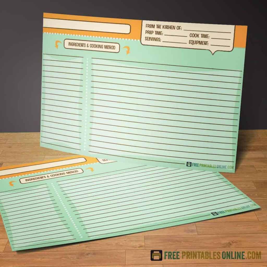 4x6 recipe cards with a retro theme