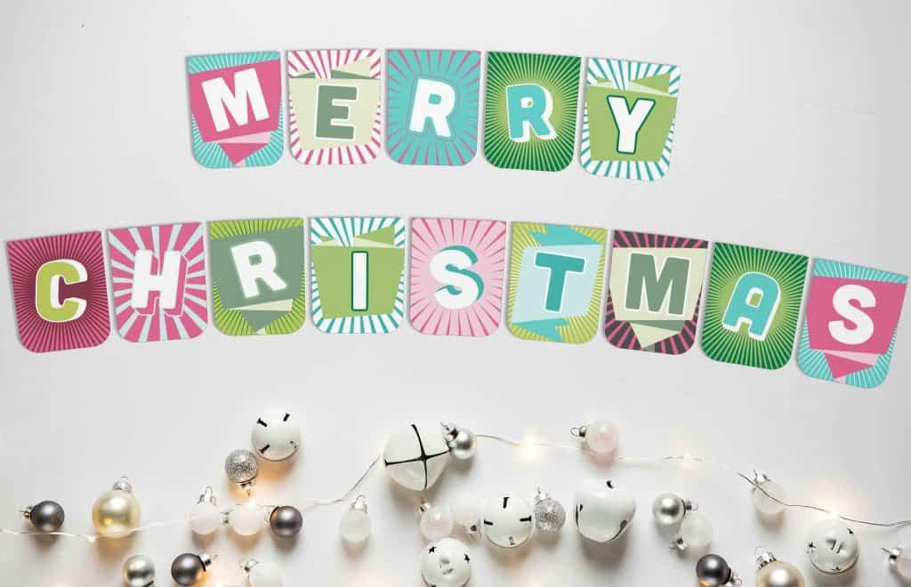Merry Christmas banner to print